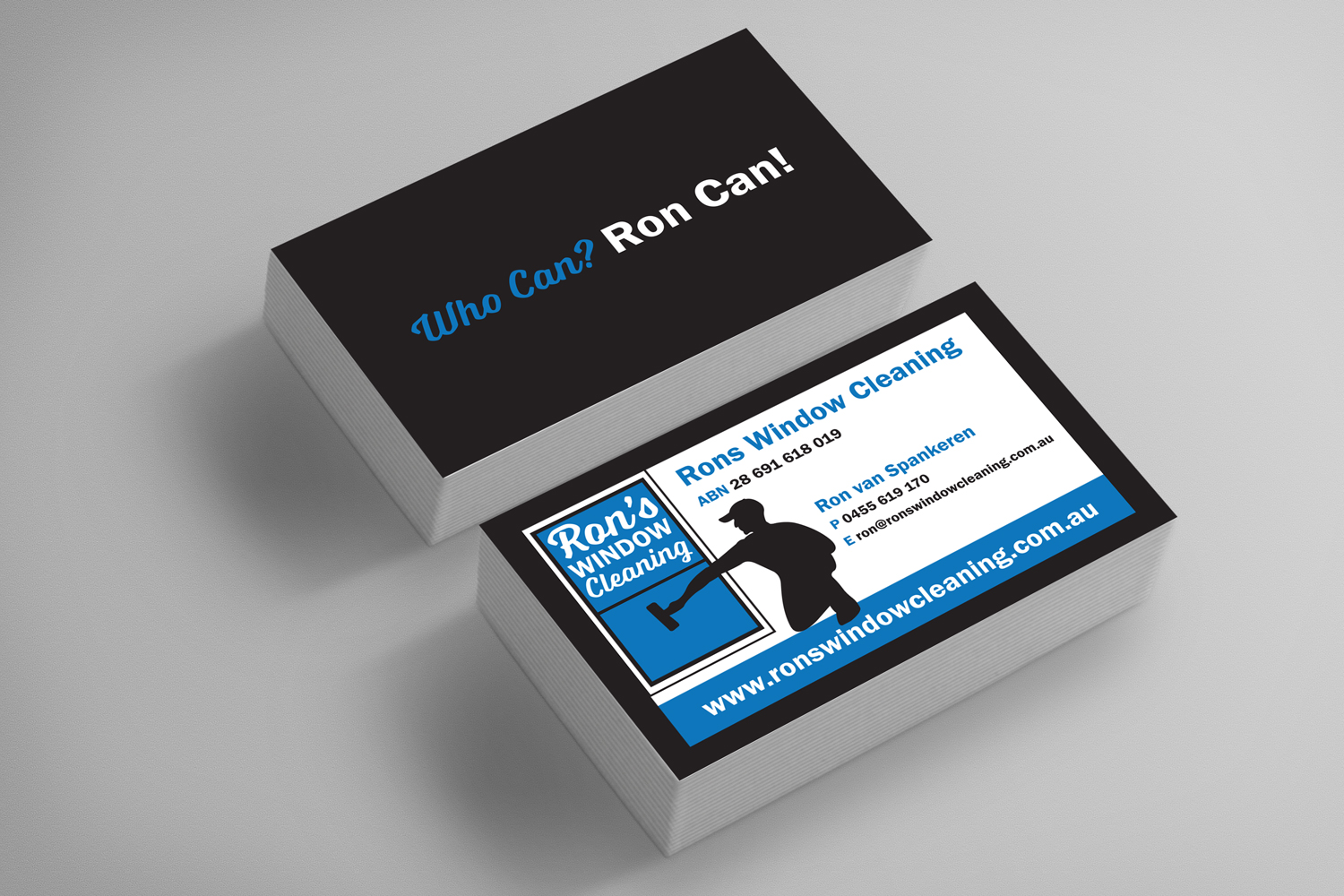 RonsWindowCleaning Business Cards