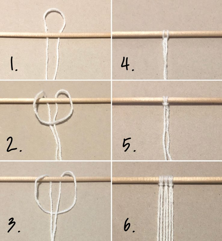 how to create a rainbow wall hanging